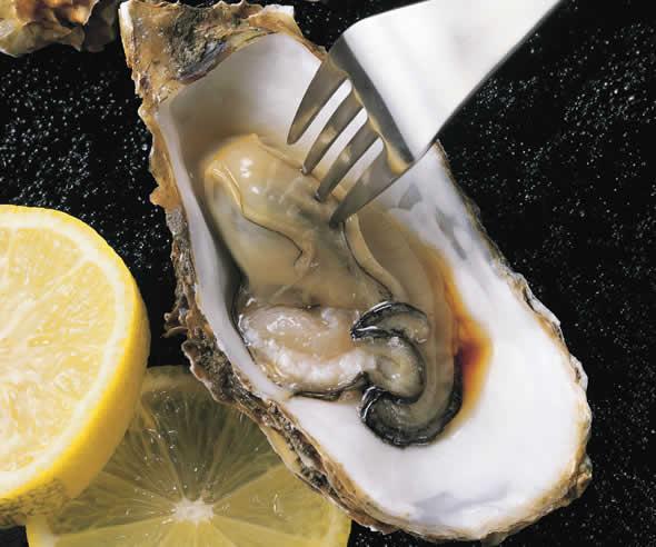 牡蠣にしょうゆ