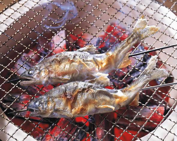 焼き魚にしょうゆ