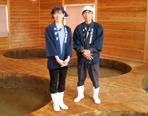 かくはん室の山本さんと小嶋さん